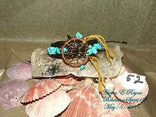 UNISEX Arturo E.Reyna DREAMCATCHER NATURAL TURQUOISE HANDMADE LEATHER BRACELET
