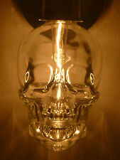 CRYSTAL HEAD VODKA SKULL BOTTLE EMPTY WALL SCONCE LIGHT FIXTURE 120V RED LED