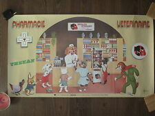 Ancienne affiche publicitaire pharmacie veterinaire Thekan illustr. J. BILLOT