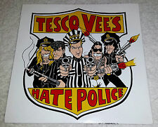 "TESCO VEE HATE POLICE RED VINYL 7"" SINGLE MINT UNPLAYED MEATMEN TVHP RARE PUNK"