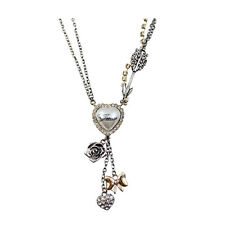 collier guess coeur flèche retro cadeau necklace
