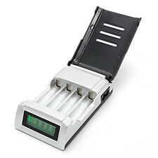4 Slots LCD Quick Battery Charger for AA/AAA Ni-Cd Ni-Mh Rechargeable Batteries