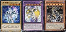 Rainbow Neos Fusion Set: Rainbow Dark Dragon + Elemental Hero Neos Yugioh