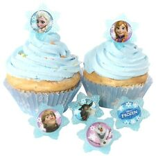 12 PCS Disney Frozen, Cupcake/Cake Decorating Supplies Topper Pops Rings Favors