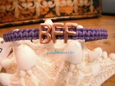 BCBG ~*BFF*~ MACRAME AFFIRMATION/SHAMBALLA PURPLE/ROSE GOLD NWT GREAT GIFT IDEA!