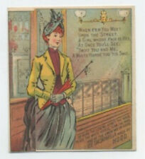 Hood's Sarsaparilla metamorphic before and after trade card - red hair poem