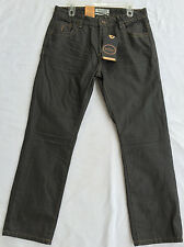 new Division E Denim LA Dakota Slim Fit Gray Handcrafted Pants Jeans Men's 34/30