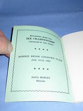 Vintage 17th Ike Golf Tees Off Souvenir Notebook  Ike Championship 1969