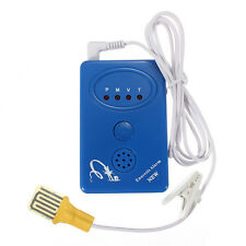 BLUE ADULT BABY BEDWETTING ENURESIS URINE BED WETTING ALARM SENSOR WITH CLAMP