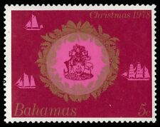 """BAHAMAS 444 (SG532) - Christmas """"Coat of Arms within Wreath"""" (pa50002)"""