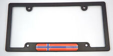 Norway Flag Black Plastic Car License plate frame domed decal