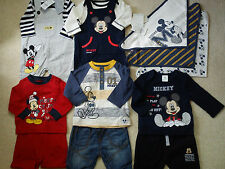 **AMAZING**40x NEW BUNDLE OUTFITS MICKEY WINTER BABY BOY 0/3+ MTHS(3)NR240