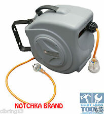 Notchka Wall Mounted Retractable 240v 10amp Electrical Cord Reel 18m NO STOCK