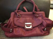 Genuine Authentic GUESS Shopper Shoulder Wekeend Bag Handbag Dark Red