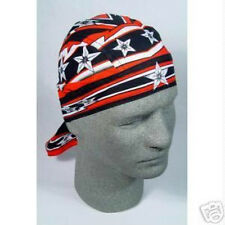 Super Biker Red Star Doo Rag Headwrap Skull Cap Moto Cross Dirt Bike Durag Black