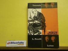 L 5.026 LIBRO DE RERUM NATURA DI LUCREZIO SCELTA E COMMENTO DI L PERELLI 1962