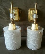 VINTAGE FRENCH MID CENTURY RETRO, DECO WALL SCONCES FROM FRANCE!