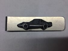 Clan Crusader ref51 pewter effect car on a stainless steel money clip