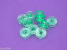 10 Green bobbins for Viking Husqvarna sewing machines Plastic