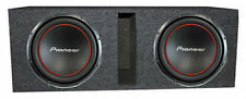 "Two Pioneer TS-W304R 12 inch Subwoofers w/ dual 12"" Vented Enclosure"