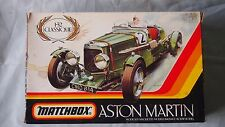 VINTAGE MATCHBOX ASTON MARTIN ULSTER CAR MODEL KIT 1/32 #PK-301