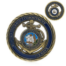 U.S. Navy I Will Obey The Orders Gold Plated Commemorative Challenge Art Coin