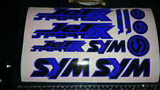Sym Jetsport X Stickers / Decals BLUE & Black 11 piece printed vinyl, 50, 125,