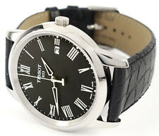 Tissot T0334101605301 Black Dial Black Leather Strap Dream Men's Watch
