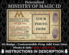 Ministry of Magic Personalised ID Badge Harry Potter Cosplay Costume Halloween