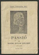 Librito antiguo de la Passion de Cristo andachtsbild santino holy card santini