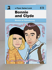 Serge Gainsbourg Brigitte Bardot Ltd Edition Bonnie & Clyde A5 Greeting Card