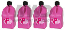 4 VP Racing Pink 5 Gallon Square Fuel Jugs/Utility Water Container/Jerry Gas Can