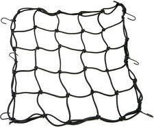 UNIVERSAL MOTORCYCLE CARGO NET WITH HOOKS BLACK COLOR