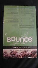 Sealed Box of 12 Bounce Cacao Mint 1.48 Oz Protein Bombs / Energy Balls Yummy