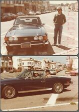 Vintage Photos Men w/ 1970s Triumph Stag Convertible Sports Car 730310