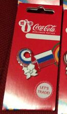 LONDON 2012 OLYMPICS COCA COLA RUSSIA FLAG PIN BADGE RIO 2016
