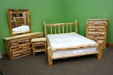 Rustic Pine Queen Log Bedroom Suite - 5 pc Set $2459 - Free Shipping