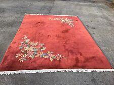 Amazing Art Deco - 1920s Antique Chinese Rug - Art Nouveau Carpet - 9x12ft