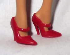 * SHOES ~ MATTEL BARBIE DOLL MODEL MUSE RED MOULIN ROUGE MARY JANES HIGH HEEL
