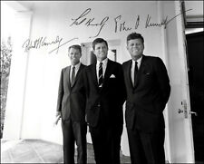 John Kennedy Bobby Ted  Autographed Repro Photo 8X10 President Brothers