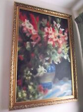 Large Oil Painting On Canvas THE FLOWERS in a VASE 24x36 inch