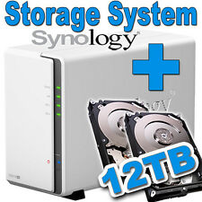 12TB (2x6TB) Synology Disk Station DS216se Gigabit LAN NAS Filme MP3