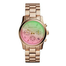 Michael Kors mk6179 Flash Lens CHRONO ROSE GOLD LADIES WATCH - 2 anni di garanzia