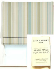 4X LAURA ASHLEY AWNING STRIPE DUCK EGG READY MADE ROMAN BLIND 1.2M-W 1.5M-L