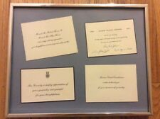 Framed President Sympathy Message Cards Hoover Eisenhower Johnson John F Kennedy