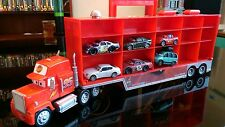 Disney Pixar CARS: Mack Truck Hauler Car Carrier Storage Case with 6 Cars handle