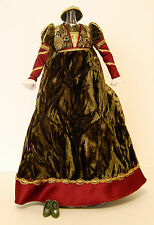 Barbie Juliet Outfit Velvet Medieval Fashion Brocade Doll Dress Romeo