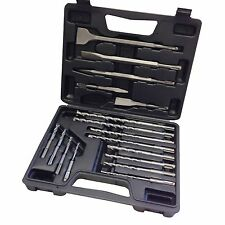 NEW 17PC ROTARY HAMMER DRILL SDS + PLUS BIT BITS CHISEL SET CONCRETE FITS HILTI