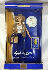 NRFB Stunning Collector Edition Sydney 2000 Olympic Pin Barbie Doll 25644