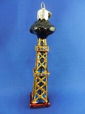 Western Oil Derrick USA Old World Christmas Ornament Glass Tree NWT 36193